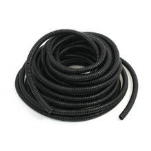 UXCELL New Hot Sale 10M/ 32.8Ft Length 8x10mm Black Plastic Flexible Wire Loom Tubing Corrugated Hose Tube Wiring Accessory