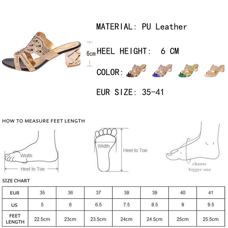 Lucyever 2017 Summer Women's Rhinestones Slippers Fashion Hollow Out High Heels Sandals Bohemia Style Flip Flops Shoes Woman 1