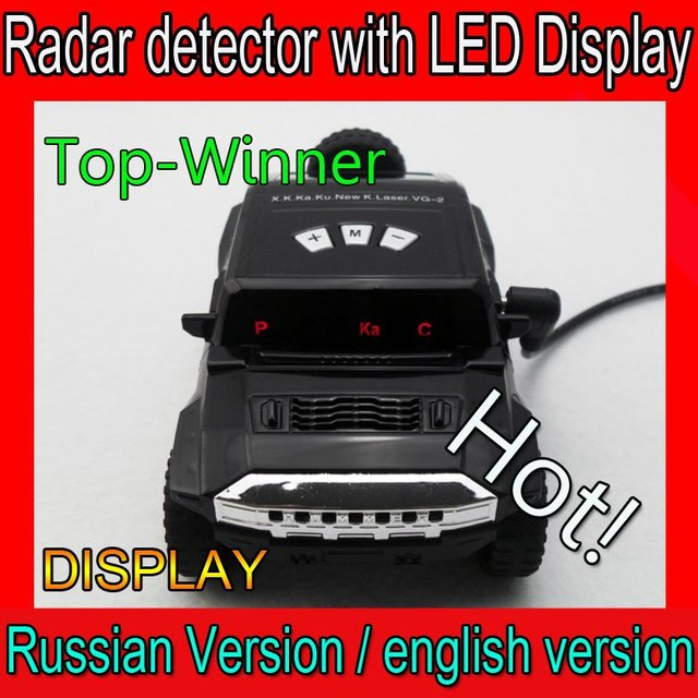 New Arrival !  - 100% Factory price Car radar detector with LED display support english/Russian voice+USB cable
