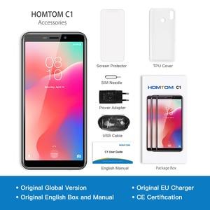 Image 5 - الأصلي HOMTOM C1 16GB ROM رباعية النواة الهاتف المحمول Android8.1 5.5 بوصة 18:9 عرض كامل 13MP كاميرا خلفية الهاتف الذكي بصمة
