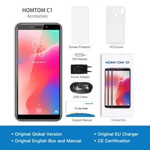 Image 5 - מקורי HOMTOM C1 1GB RAM 16GB ROM Quad Core טלפון נייד 5.5 אינץ 18:9 מלא תצוגת 13MP אחורי מצלמה Smartphone טביעות אצבע