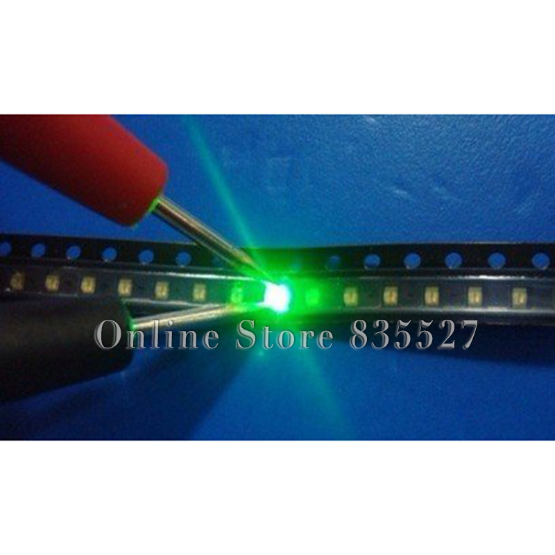 100PCS/LOT 2012 0805 Emerald Green SMD Lamp Beads Bright LED Light Emitting Diode Leds Highlight