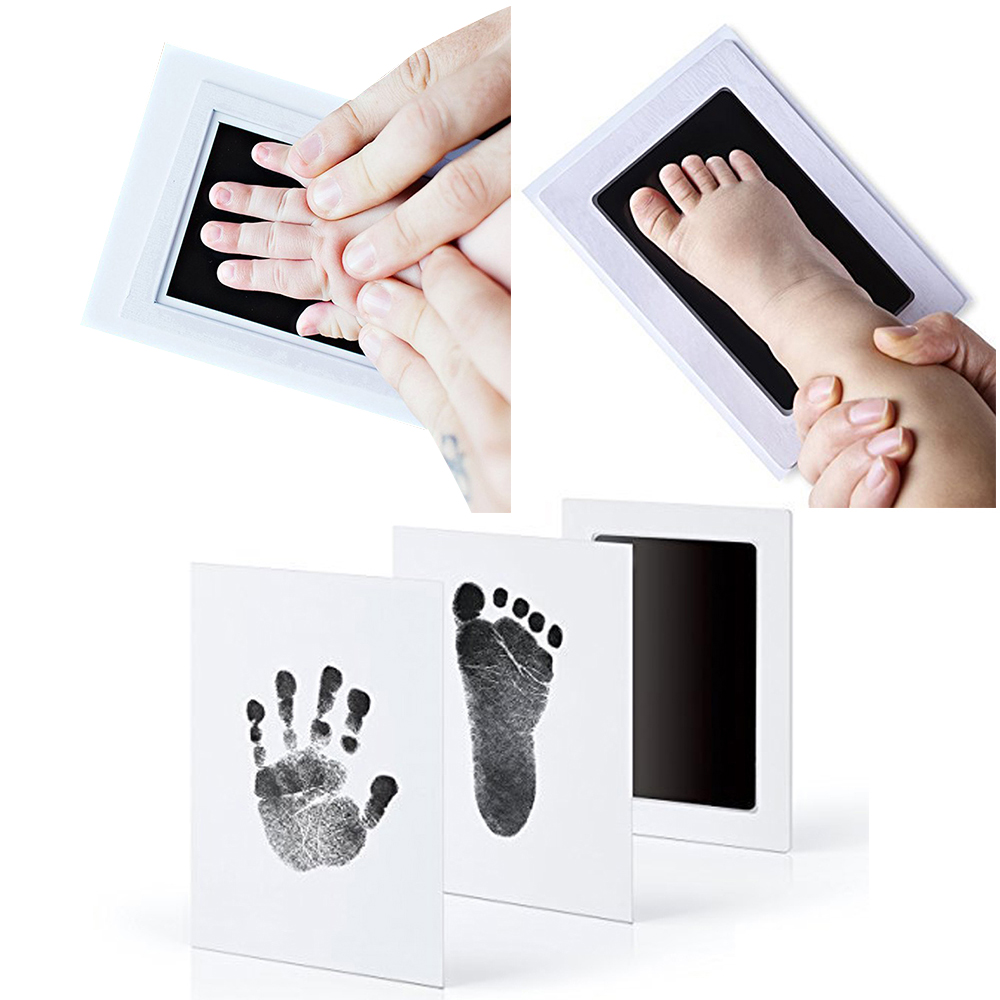 Newborn Creative Baby Hand & Footprint Souvenirs Safe Non-Toxic Imprint Kit Pad Photo DIY Infant Hand Foot Inkpad Toys Gift