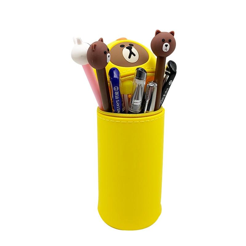 Q UNCLE Pencil Case Pen Case Student Stationery Cute Cartoon Zipper Pencil Case School Office Supplies Cute Pencil Bag in Pencil Bags from Office School Supplies