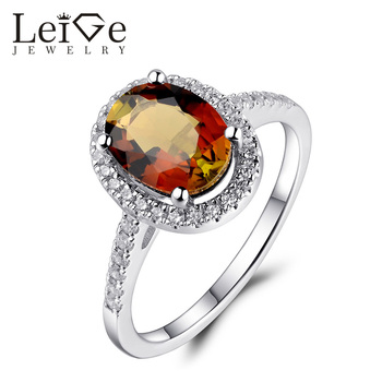 Leige Jewelry Oval Cut Tourmaline Ring 925 Sterling Silver Wedding Anniversary Rings for Women Christmas Gift Fine Jewelry
