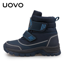 Kids High Top Shoes Size 26-39 Big Kids Teenage Outdoor Sporty Shoes Hiking Wading Botas Boys Winter Ankle Boots Uovo Brand