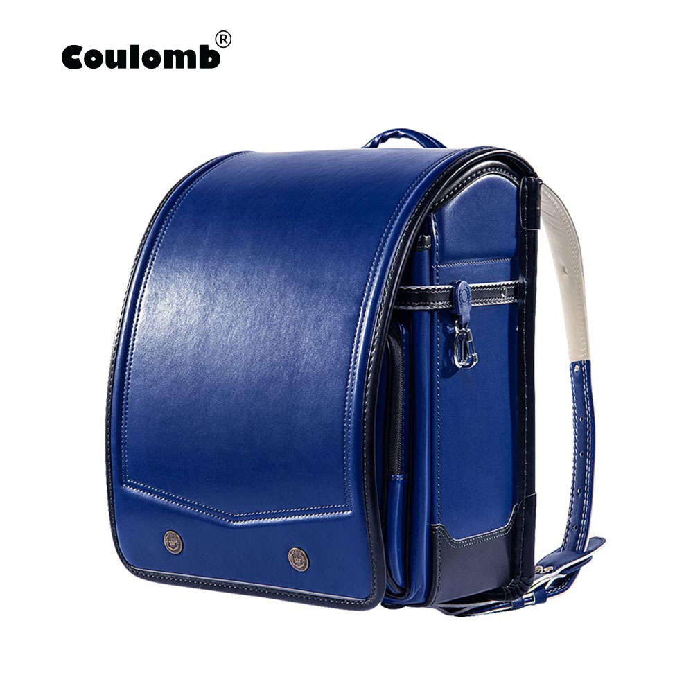Coulomb Randoseru Kid PU Solid High Quality Brand Children s Bag Backpack For The Boy Children