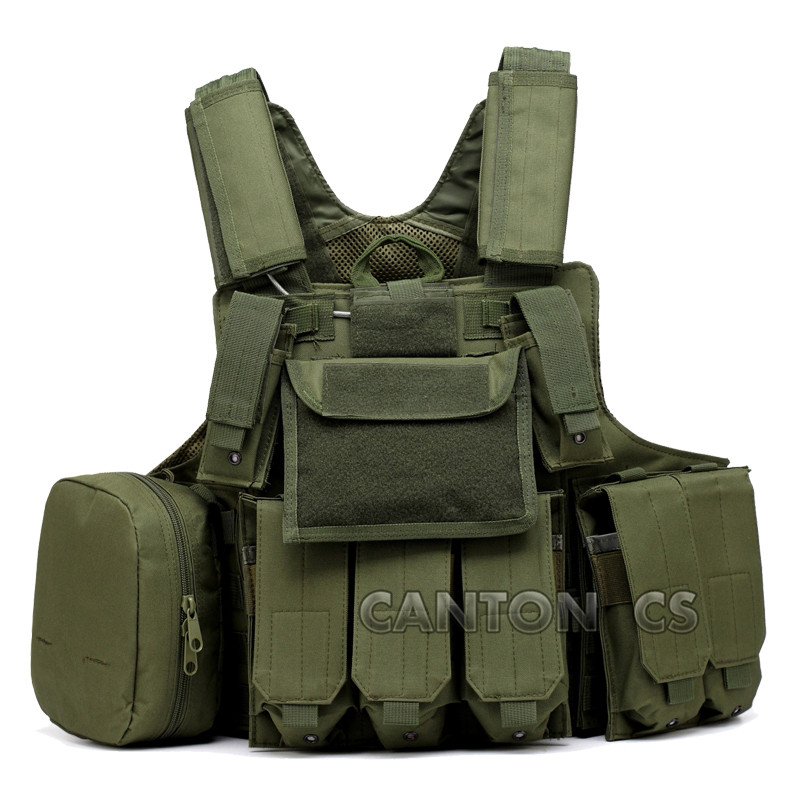 Tactical  Vest Outdoor Camouflage Amphibious Hunting Airsoft Molle Counterterrorism Military Protective Training Paintball Gear