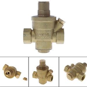 """Image 2 - Válvula reguladora de pressão dn15 1/4 """"dn25, válvula ajustável de latão para redução de pressão e envio gratuito"""