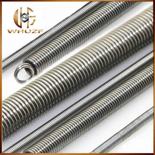 2pcs long stainless steel 304 extension springs and tension springs, 0.6mm wire diameter x (5-8)mm out diameter x 300mm length