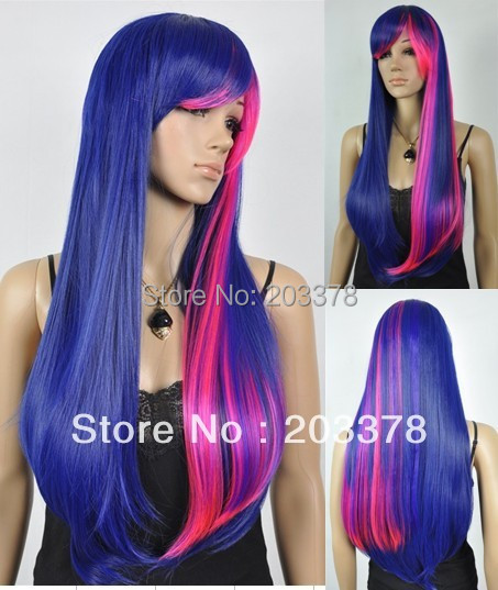 Capless Long straight Top Grade Quality Heat-resistant Mix color Costume Party Wig 10pcs/lot mix order free shipping