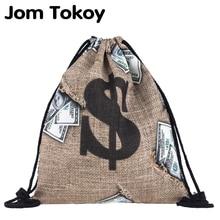 JomTokoy новый женский мода drawstring рюкзак 3D печать путешествия книжное производство mochila сумки SKD27134