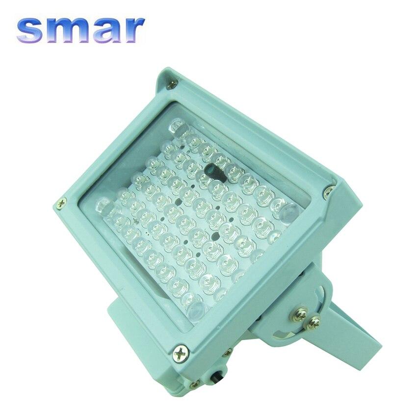12 В 8 Вт 54 светодиодный 30 м ИК инфракрасный осветитель ночного видения лампа светодиодный вспомогательное освещение для камеры видеонаблюд