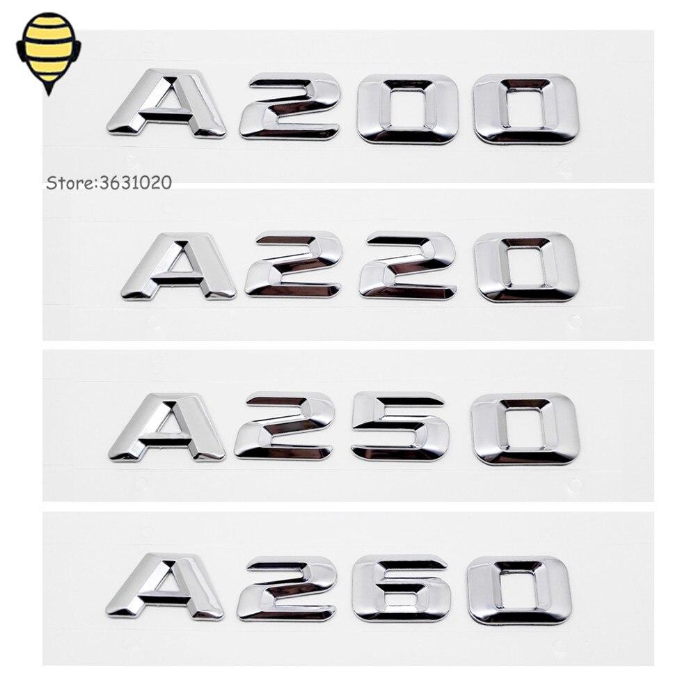 Metal Emblem Badge Car Rear Sticker Car Exterior Accessories For Mercedes Benz For A Class A200 A220 A250 A260 W164 W203 W211 GT