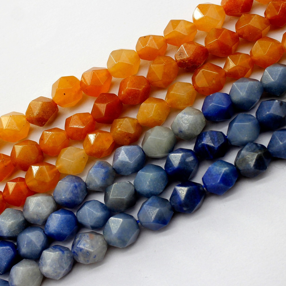 red Blue AventurineFaceted  Round Beads Natural Stone Beads For Jewelry Making Bracelet 6/8/10mm 15inches