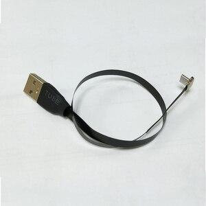 Image 2 - 25cm płaski FPV ultra cienki super miękki niski profil prostopadły Micro USB 90 stopni do usb 2.0 męski FPC wstążka kabel do ładowania danych