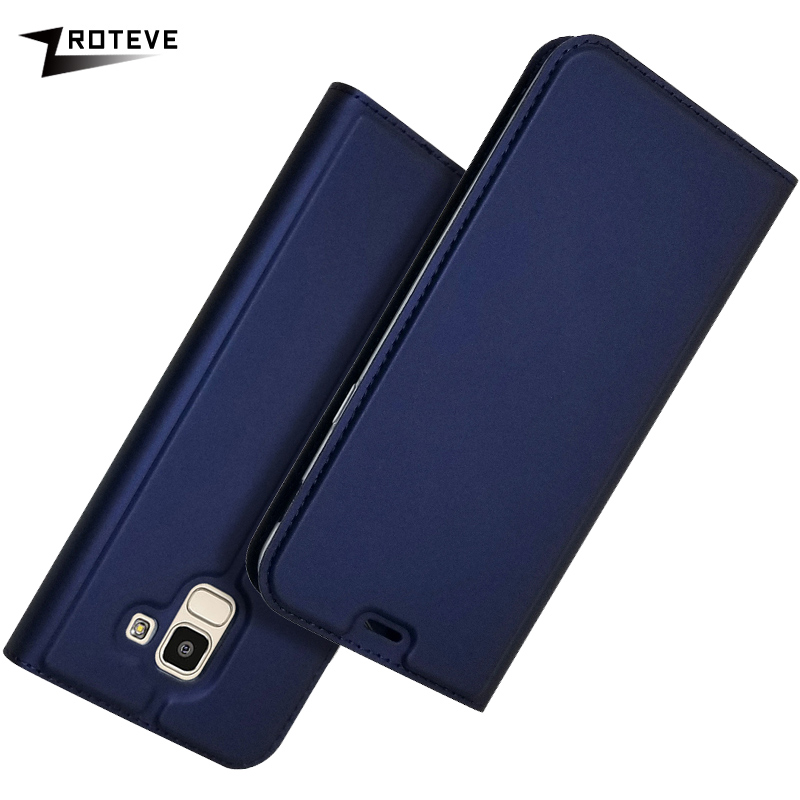 ZROTEVE For Samsung J6 2018 Case PU Wallet Coque Galaxy Plus Leather Stand Flip Cover GalaxyJ6