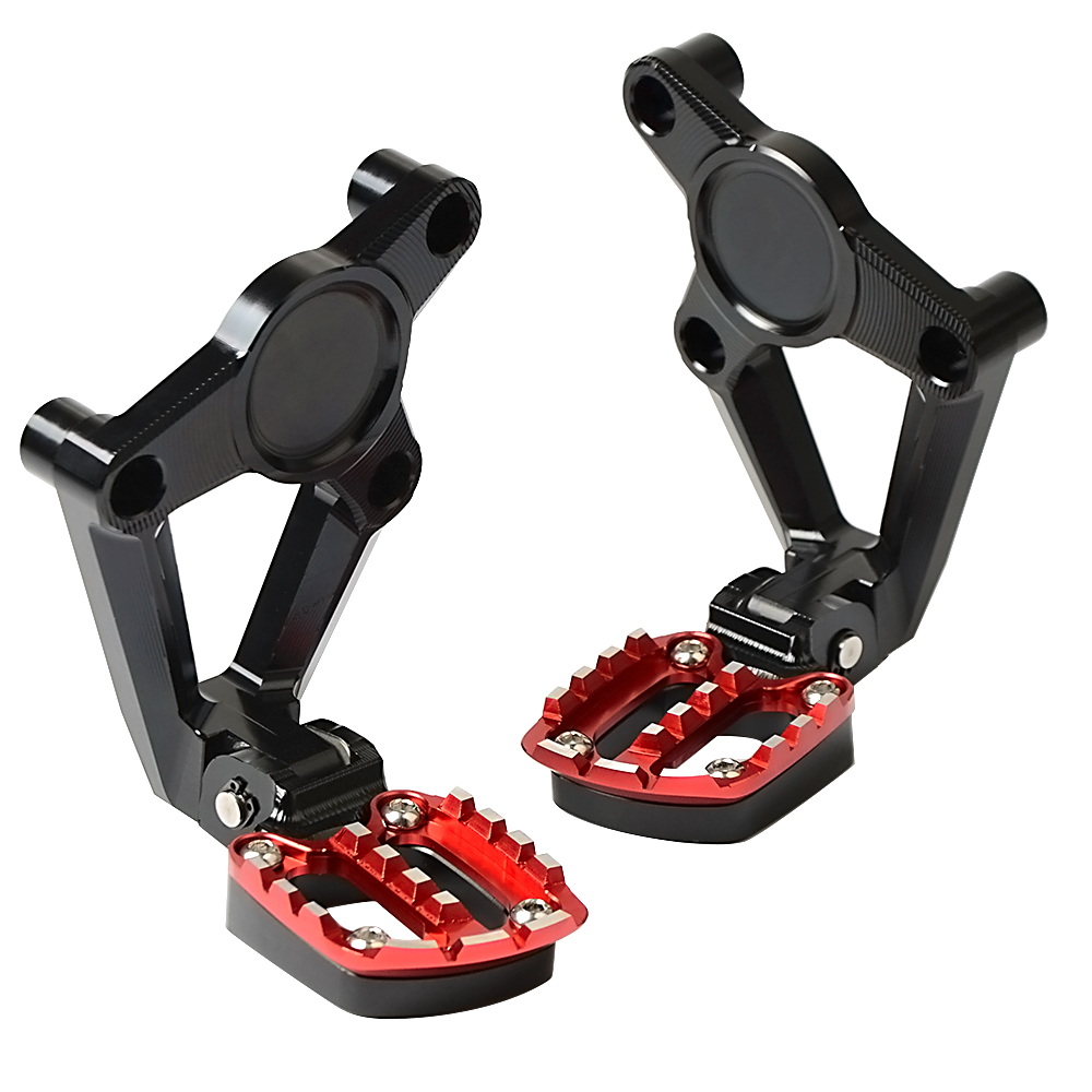 2018 New Arrival Motorcycle Accessory Folding Rear Foot Pegs Footrest Passenger Rear foot Set For Honda X ADV 750 XADV 2017 2018 in Foot Rests from Automobiles Motorcycles