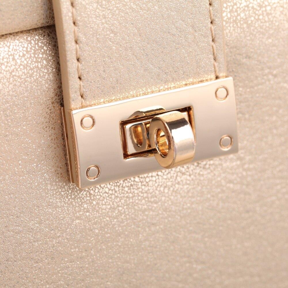 ROWLING Or Miroir Bijoux Boîtes Anneau Colliers Bracelet 3 Tiroirs Cas En Cuir Velours Organisateur Affichage Femmes Fille Cadeau Serrure - 6
