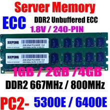 цена на Server RAM 2GB DDR2 667MHz PC2 5300 ECC UDIMM 2GB 2Rx8 PC2-6400E DDR2 800 PC2 6400 Unbuffered 4GB Memory