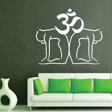 Buddha Wall Decal Om Sign Indian Yoga Vinyl Stickers Sympol Studio Home Decor Removable Meditation Window SY98