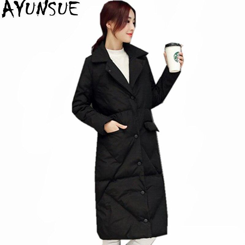 Long Inverno Chaud Wxf253 Ayunsue Coton Vestes Femmes Mincir Ouatée Casaco Parka Parkas Hiver Veste Épais coffee Black Manteau Femelle Mujer xTqpIa
