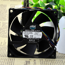 Free Shipping For Cooler Master A8025-42RB-61P-P1 DC 12V 0.54A 4-wire 4-pin connector 80mm 80x80x25mm Server Cooling Square fan
