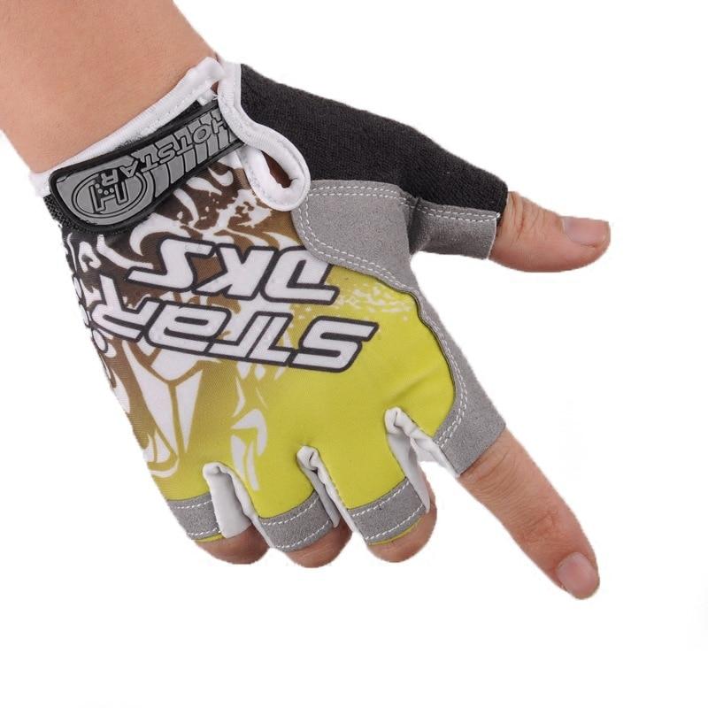 Летние ледяные шелковые наполовину перчатки для рыбалки мужские спортивные износостойкие дышащие велосипедные перчатки рыболовные принадлежности PESCA - Цвет: Цвет: желтый