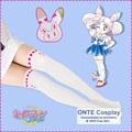 Alta calidad baratos Sailor Moon Cosplay gatos cristal Sailor Moon Tsukino Usagi Cosplay accesorios mujeres Patchwork apretado pantimedias Sexy