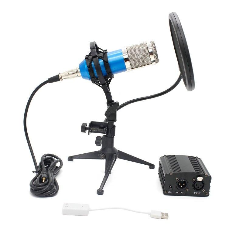 Diligent New Bm-800 Microphone Professional Recording Condenser Microphone Portable Filter Triangle Bracket Kit Phantom Power