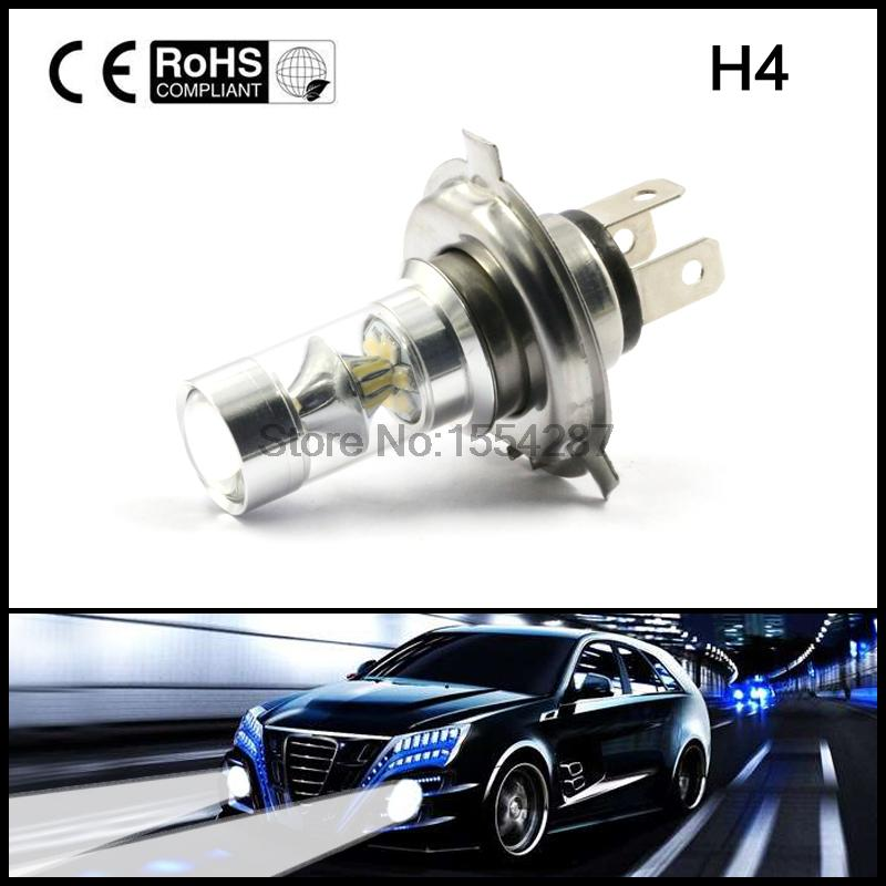 Hot Selling 2PCS Car Led H4 Fog Lights White 100W Bulbs 20 SMD Super Strong Source DC12V 24V Lamp Driving Turning Ampoule