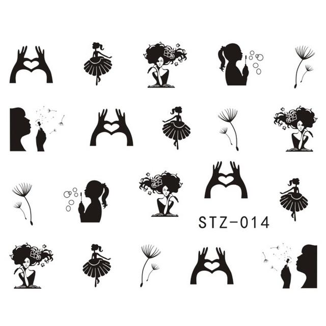 Cute Black Nail Stickers Set
