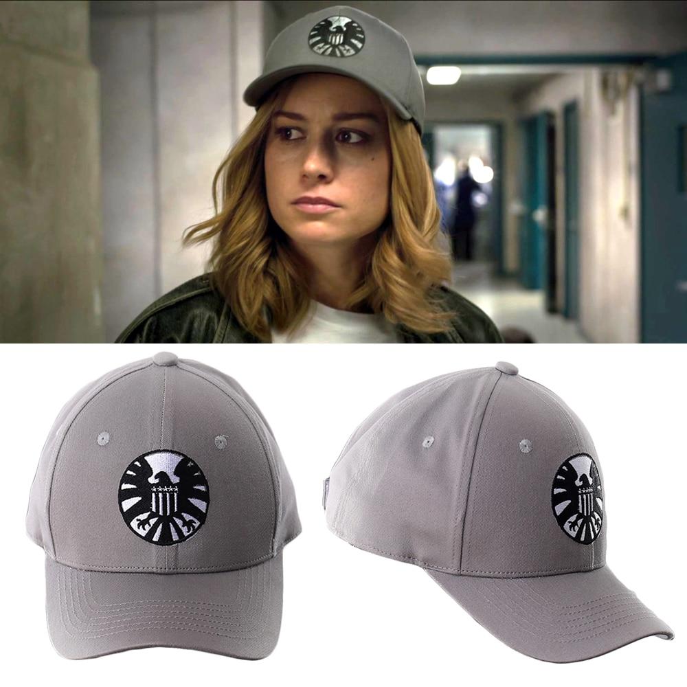 2019 Movie Captain Marvel Carol Danvers Cosplay Hats Superheroine Embroidery Adjustable Snapback   Baseball     Caps   Accessories Gift