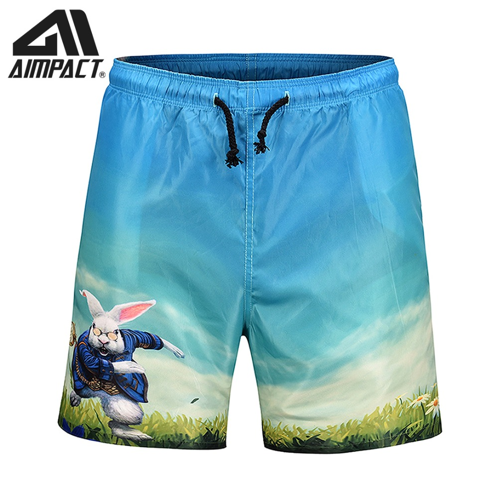 2019 New Fashion Quick Dry   Board     Shorts   for Men Summer Holiday Beach Surf Leisure Swim Trunks Casual Pool Running Hybird AM2135
