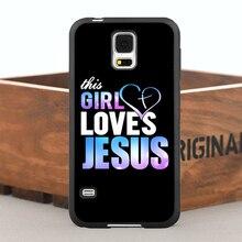 Эта девушка любит иисус тпу чехол для iPhone 5 5S 6 / 6 s плюс и чехол для Samsung Galaxy Note2 3 4 5 S4 S5 S6 края плюс S7 край
