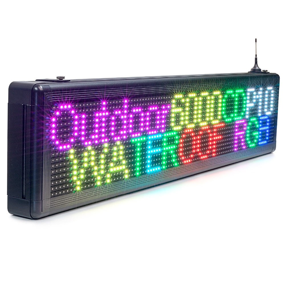 80CM P8mm Outdoor Waterproof RGB Full Color SMD Module LED Sign IOS Programmable Scrolling Message Temperature Display Board