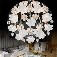 現代のledの花高品質k9クリスタル円形ライト現代クリスタル屋内シャンデリア最高価格寝室のランプ照