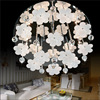 Modern LED Flower High Quality K9 Crystal Circular Light Modern Crystal Indoor Chandelier Best Price Bedroom