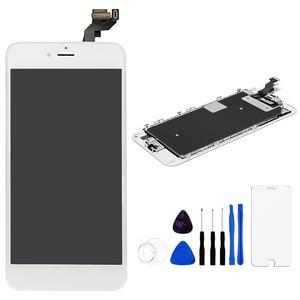 """Image 5 - A1634 A1687 A1699 tam set ekran Apple iPhone 6S artı LCD dokunmatik sensör sayısallaştırıcı meclisi 5.5 """"ekran ev düğmesi + hoparlör"""