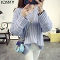 YiZiKKCO Brand Woman Sweaters Pullovers 2016 New Autumn Winter Knitted Sweater Womens Pullover Pull Femme Sweter Mujer WHD170