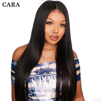 Glueless Pre Plucked Full Lace Wigs Human Hair With Baby Hair For Women Natural Black 180% Straight Brazilian Remy Hair Wig CARA