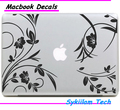 Beauty Flower Vine and Plant for Apple Logo Vinyl Sticker for Macbook Skin Air 11 13 Pro 13 15 17 Retina Laptop Creative Decal