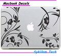 Beleza da videira da flor e planta para a apple etiqueta do logotipo do vinil para macbook pele Ar 11 13 13 15 Pro 17 Retina Laptop Criativo Decalque