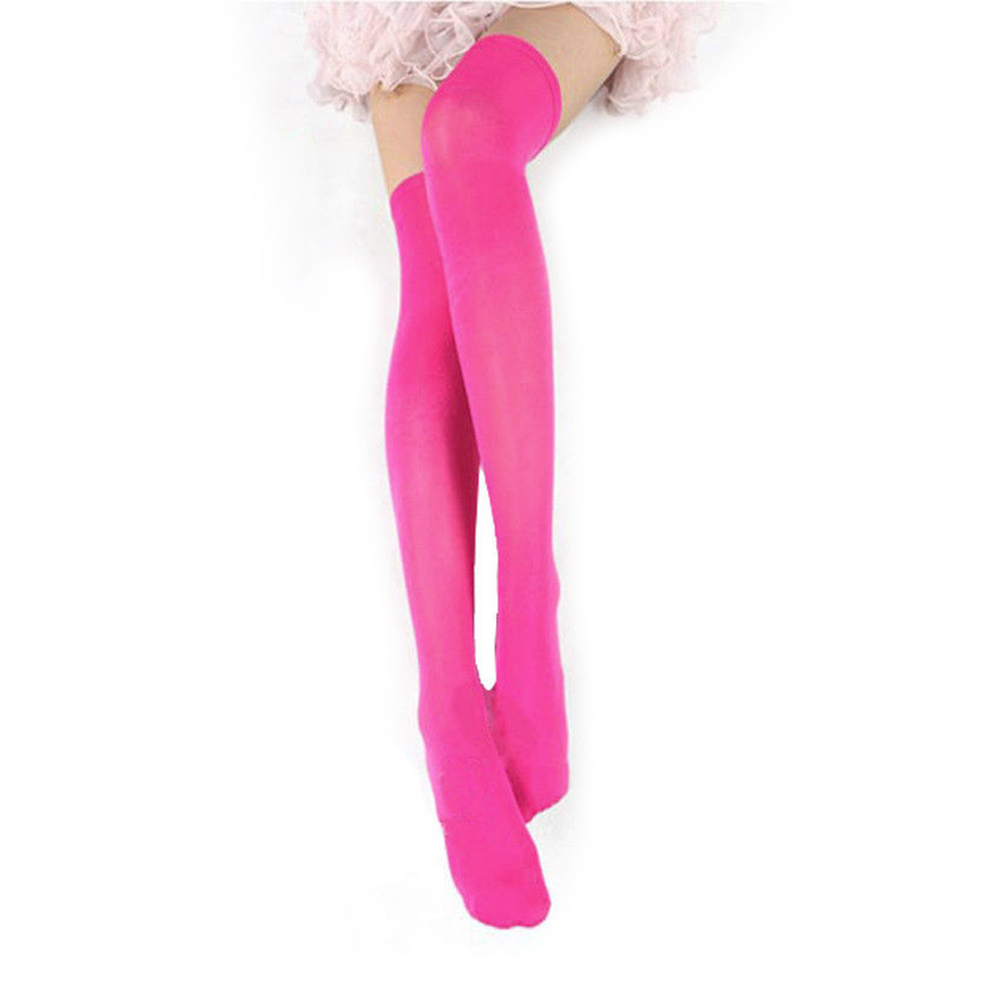 Fashion Women Over Knees Long Non-slip Solid Color Thigh High Boot Stockings School Students Girl Stockings JL