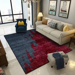 Image 2 - אירופאי הפשטה כהה אדום תפרים מחצלת בית חדר שינה ליד המיטה כניסה מעלית רצפת מחצלת ספת שולחן קפה אנטי להחליק שטיח