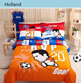 2017 Apressado Consolador 3d Conjuntos de Cama, roupa de cama Mais Recente Projeto Alegria Para Estrelas do Futebol Tamanho 4 pcs Capa de Edredão de Algodão conjuntos de Lençol
