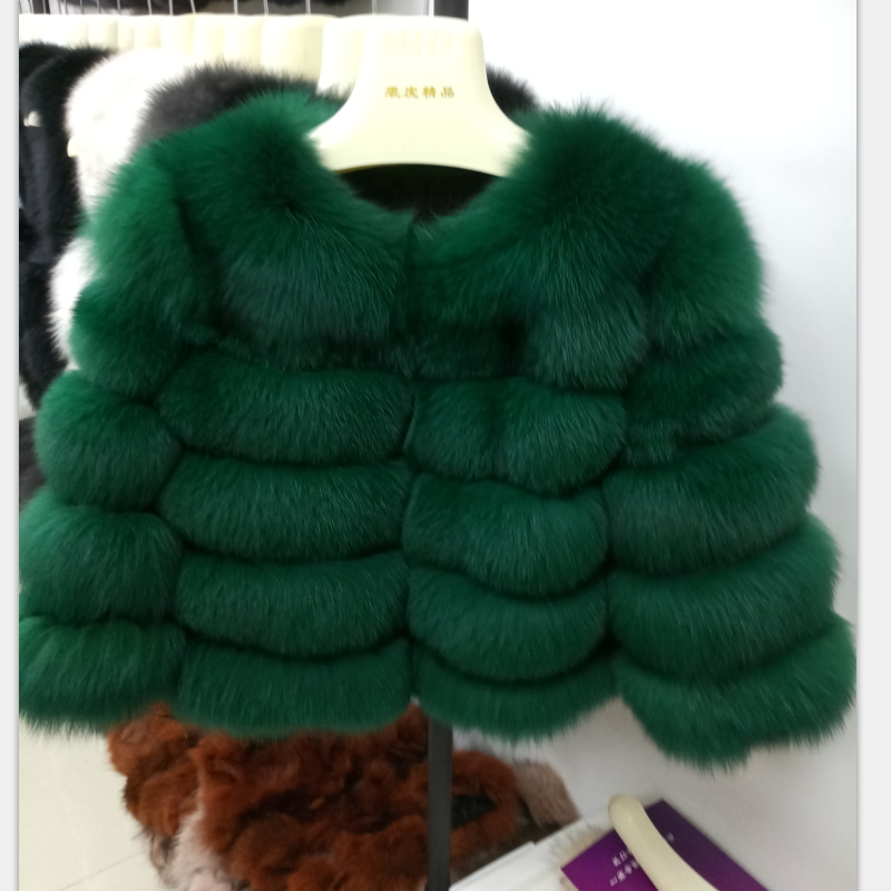 Echter Frauen Luxus Pelzmantel Wintermode Stil Nat hrdtsQ