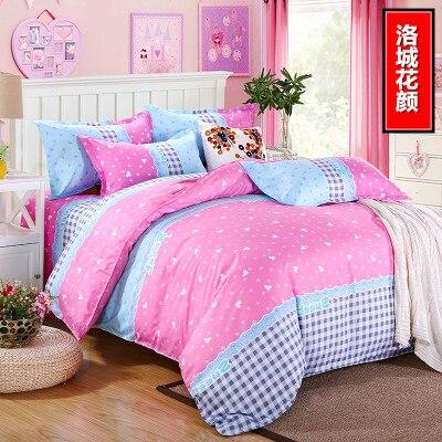 On Sale 2015 4Pcs Winter Flowers 3d Bedding Sets Plush Bedding Set King Size Bed Sheet Duvet Cover Pillows Quilt No Comforter