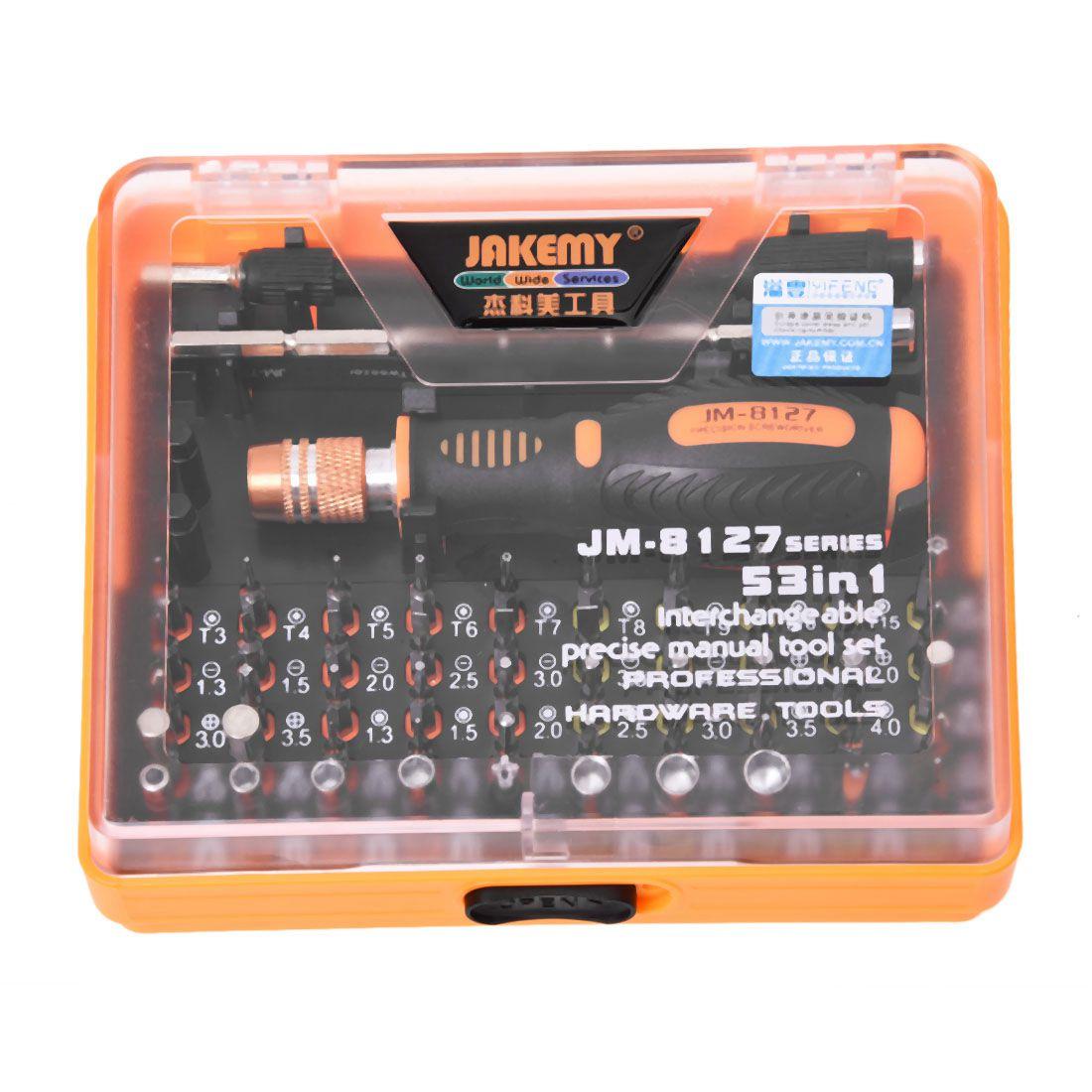 цена на Jakemy JM-8127 Magnetic 54in1 Screwdriver Set Electronic Disassemble Repair Tool