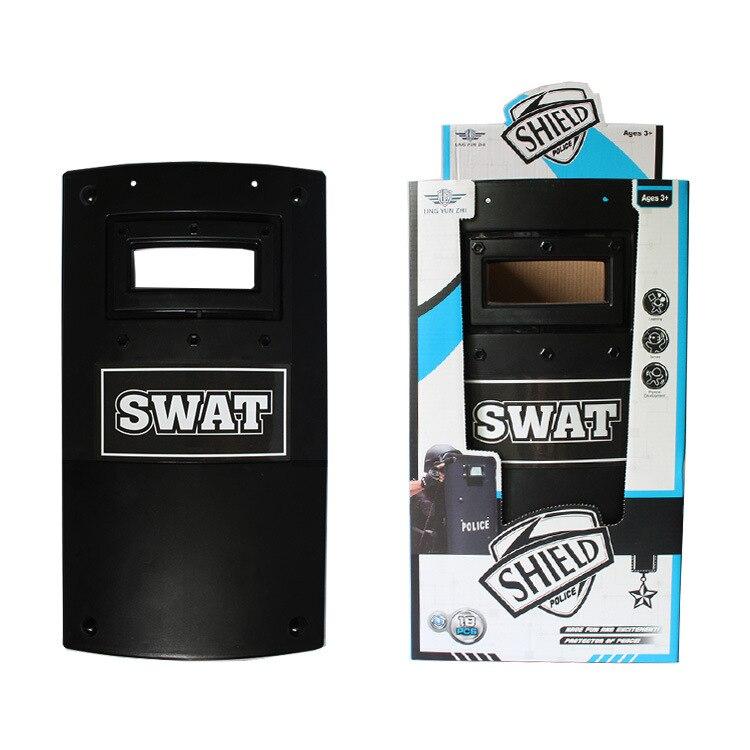 Multifunction swat táticas militares escudo brinquedos para nerf/para airsoft jogos equipamento tático presente de natal meninos crianças jogar